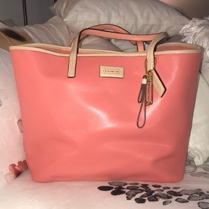 Coach tote pink